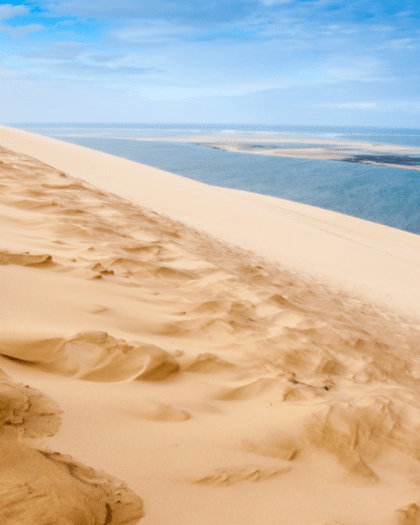 view from the dune du pyla on the banc d'arguin