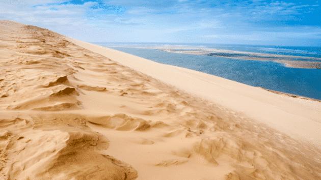 vue depuis la dune du pyla sur le banc d'arguin