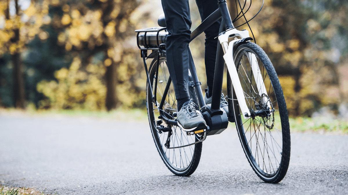man electric bike ride
